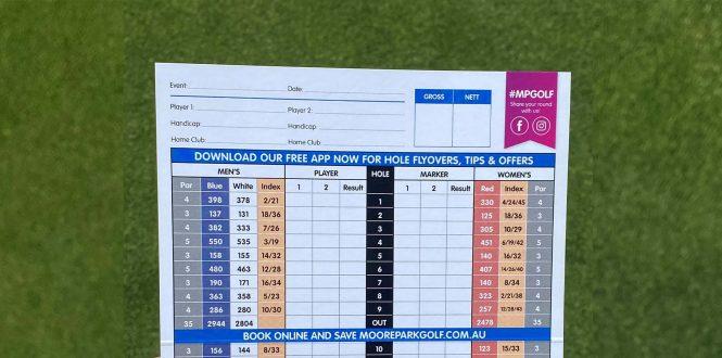 Handicap Score Card